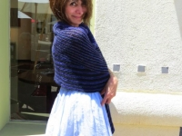 Lita in her Madeline Tosh Shawl