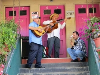 Local Musicians in their Doorway
