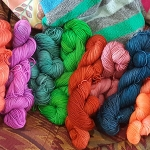 Beautiful hand dyed yarn