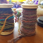 My first spools of hand spun yarn