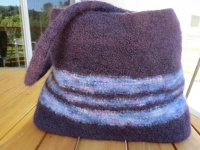Finished Felted Bag After Three Washings