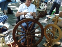 This beautiful wheel is owned by the beautiful women that has the farm